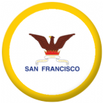 San Francisco, California Flag 25mm Button Badge